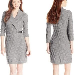 Calvin Klein cable -knit sweater dress
